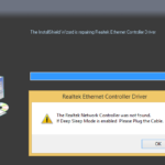 The realtek network controller was not found — Как исправить